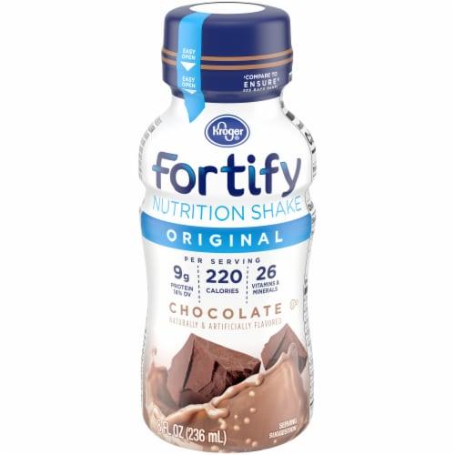 Kroger® Fortify Original Chocolate Nutrition Shake Perspective: back