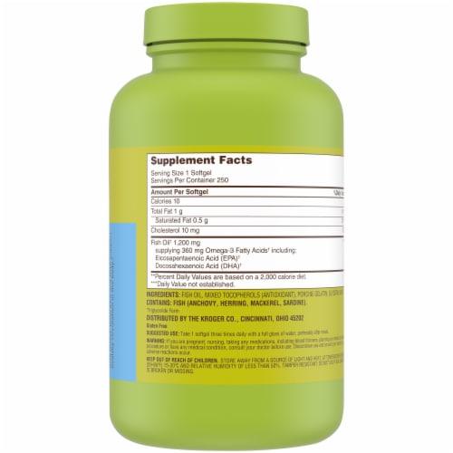 Kroger® Fish Oil Softgels 1200mg Perspective: back