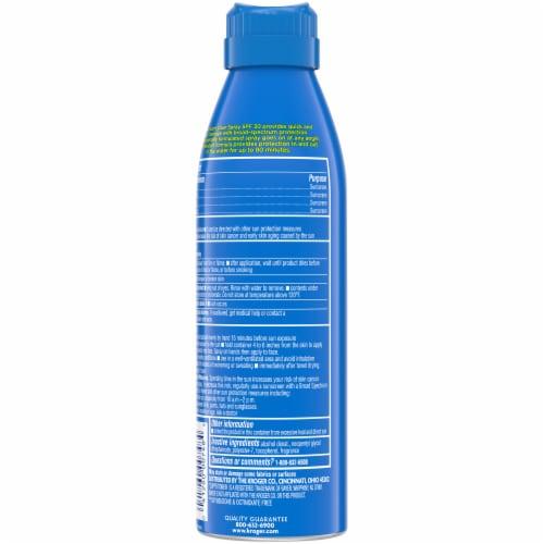 Kroger® Broad Spectrum Sport Sunscreen Spray Aerosol Can SPF 30 Perspective: back