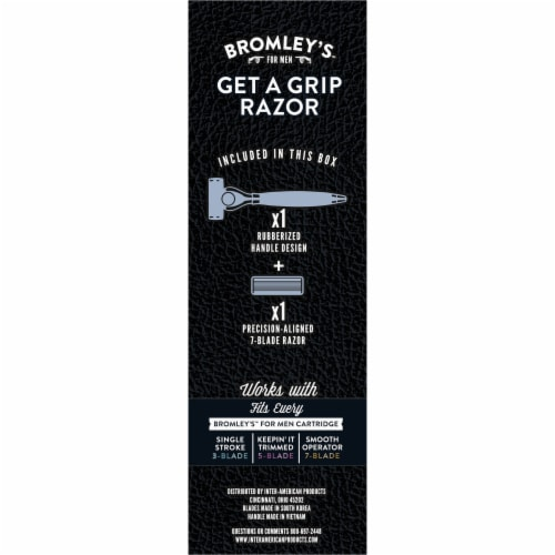 Bromley's for Men Get a Grip Razor Perspective: back