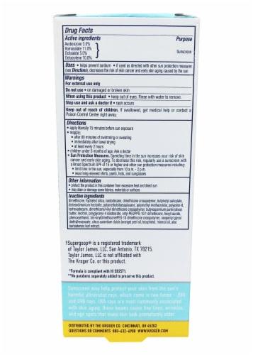 Kroger® Sunscreen Invisible Gel SPF 40 Perspective: back