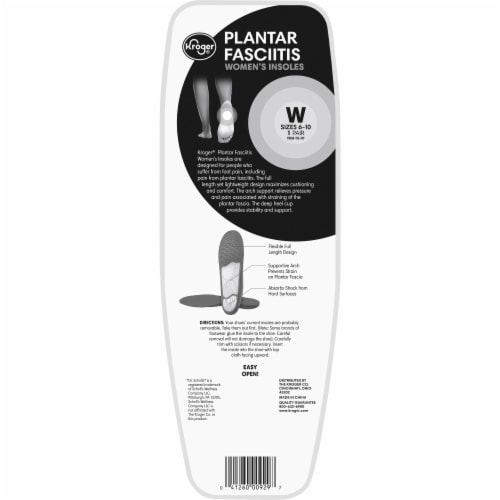 Kroger® Plantar Fasciitis Women's Insoles Pair Perspective: back