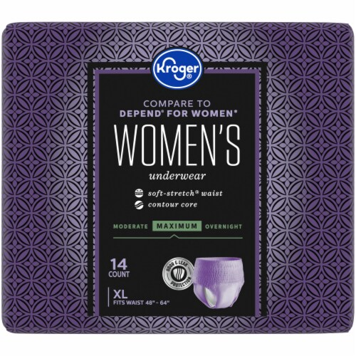 Kroger® Women's XL Maximum Absorbency Underwear Perspective: back