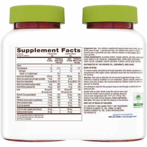 Kroger® Kid's Multivitamin Gummies (2 Pack) Perspective: back