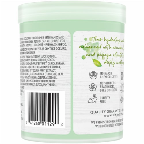 Simple Truth® Beauty Crate Avocado Coconut & Papaya Hydrating Conditioner Perspective: back