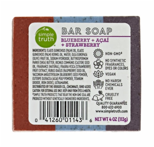 Simple Truth Blueberry Strawberry & Acai Bar Soap Perspective: back