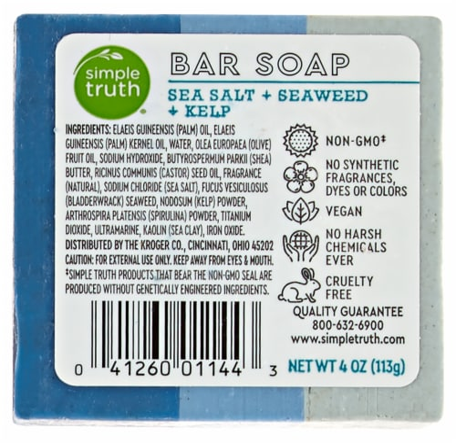 Simple Truth Sea Salt Seaweed & Kelp Bar Soap Perspective: back