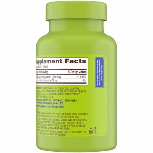 Kroger® Vitamin B12 1000mcg Tablets Perspective: back