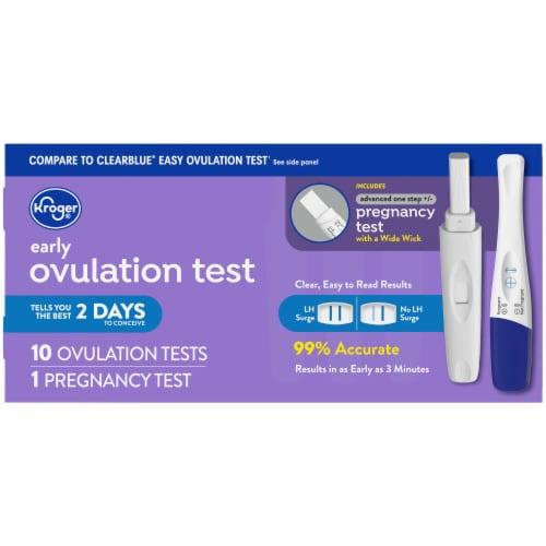 Kroger Ovulation Kit & Advanced Pregnancy Test Perspective: back