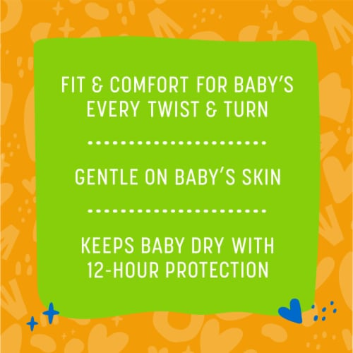 Comforts™ Newborn Day or Night Diapers Perspective: back