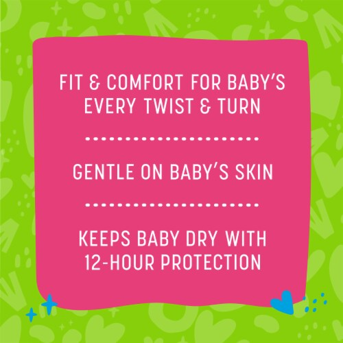 Comforts™ Size 1 Day or Night Diapers Perspective: back