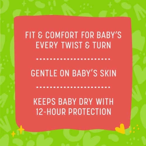 Comforts™ Size 3 Day or Night Diapers Perspective: back