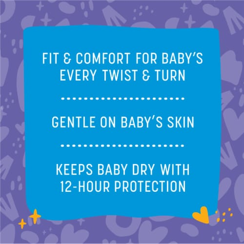 Comforts™ Size 4 Day or Night Diapers Value Box Perspective: back
