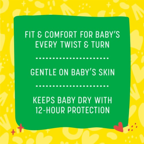 Comforts™ Size 2 Day or Night Diapers Super Value Box Perspective: back