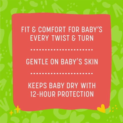 Comforts™ Size 3 Day or Night Diapers Super Value Box Perspective: back