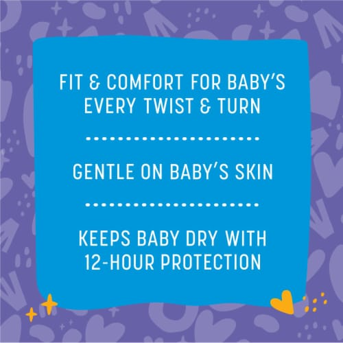 Comforts™ Size 4 Day or Night Diapers Super Value Box Perspective: back