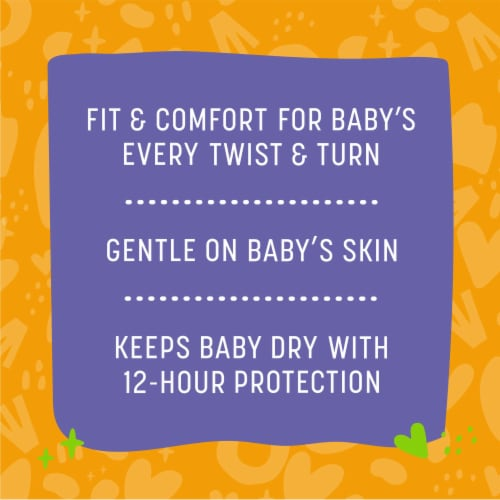 Comforts™ Size 6 Day or Night Diapers Super Value Box Perspective: back