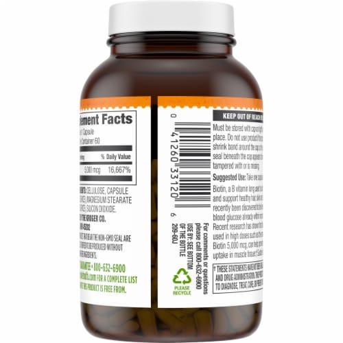 Simple Truth® Biotin Capsules 5000mcg Perspective: back