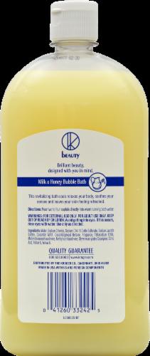 Kroger® Milk & Honey Bubble Bath Perspective: back