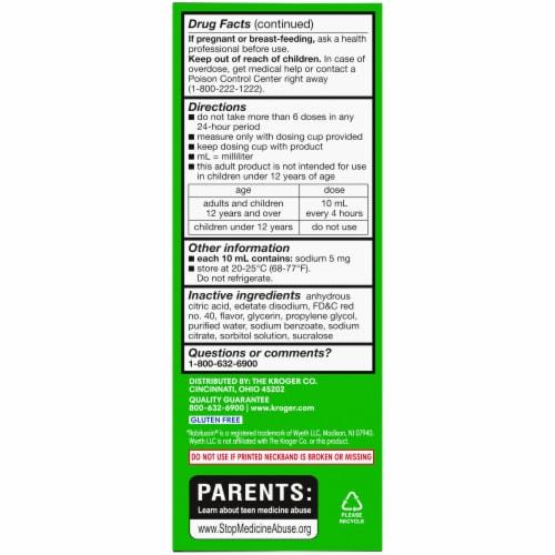 Kroger® Non-Drowsy Tussin CF Multi-Symptom Cold Liquid Medicine Perspective: back