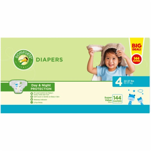 Comforts™ Day & Night Protection Size 4 Baby Diapers Perspective: back