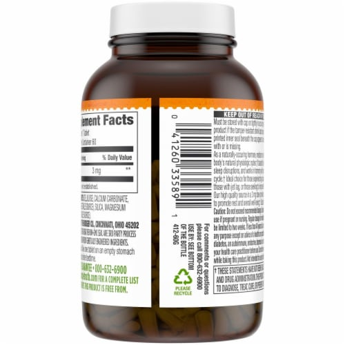 Simple Truth™ Melatonin Capsules 3mg Perspective: back