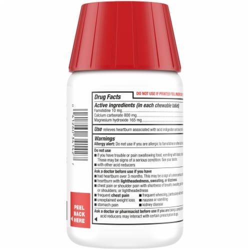 Kroger® Dual Action Complete Berry Flavor Acid Reducer + Antacid Chewable Tablets 50 Count Perspective: back