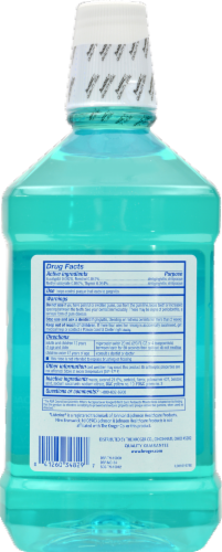 Kroger® Antiseptic Mint Burst Mouth Rinse Perspective: back