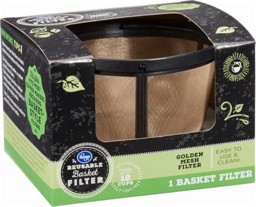 Kroger® Reusable® Coffee Filter Basket - Black/Gold Perspective: back