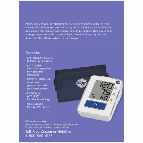 Kroger® Automatic Arm Blood Pressure Monitor Perspective: back