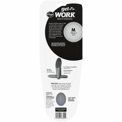 Kroger® Men's Gel Work Insoles Perspective: back