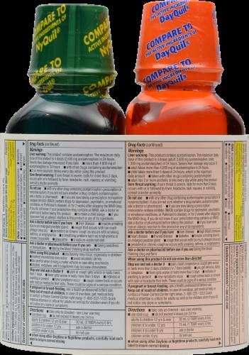 Kroger® Daytime / NiteTime Liquid Cold & Flu Combo Medicine Perspective: back