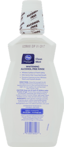 Kroger® Clean Mint Whitening Alcohol Free Mouth Rinse Perspective: back