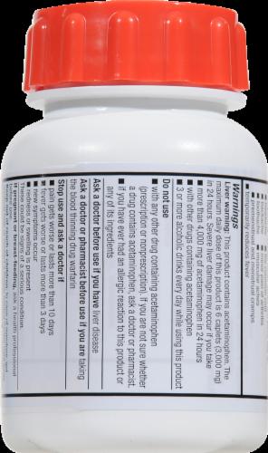 Kroger® Easy Open Extra Strength Acetaminophen Caplets 500mg Perspective: back