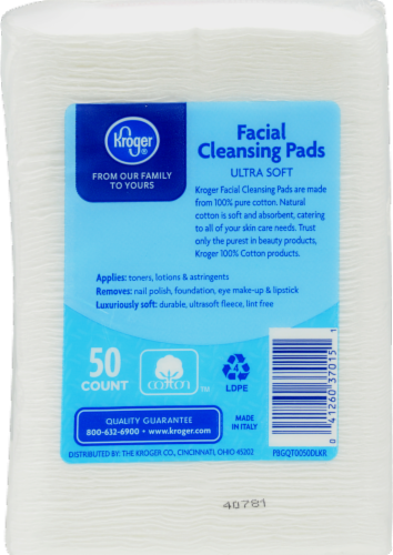 Kroger® Ultra Soft Facial Cleansing Pads Perspective: back