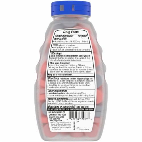 Kroger® Ultra Strength Assorted Berry Flavor Antacid Chewable Tablets Perspective: back