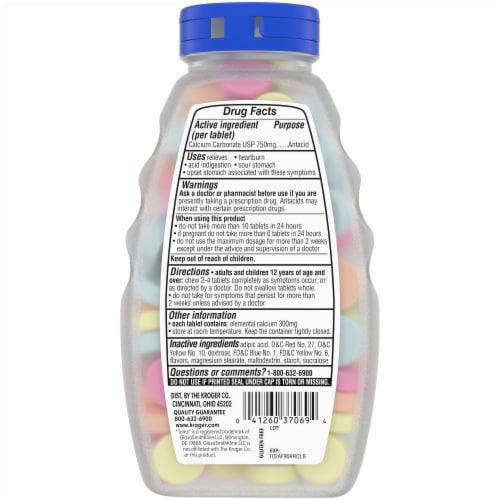 Kroger® Extra Strength Assorted Fruit Flavor Antacid Chewable Tablets Perspective: back