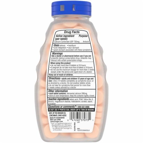 Kroger® Extra Strength Orange Cream Flavor Sugar Free Antacid Chewable Tablets Perspective: back