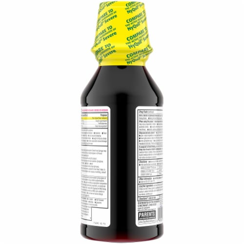 Kroger® Severe Cold & Flu NiteTime Berry Liquid Perspective: back