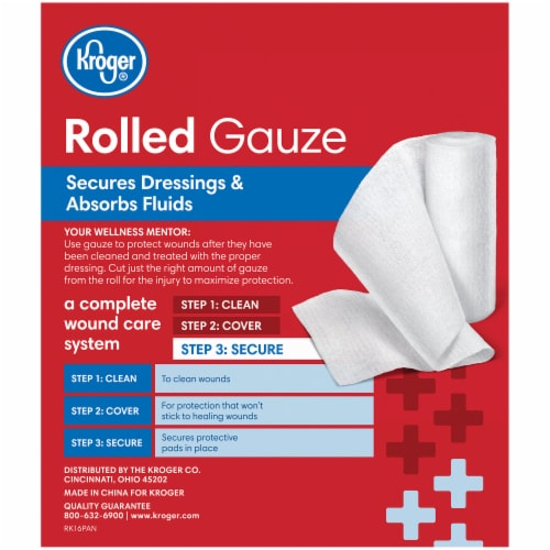 Kroger® Rolled Gauze 5 Count Perspective: back