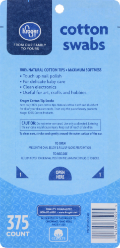 Kroger® Regular Cotton Swabs Perspective: back