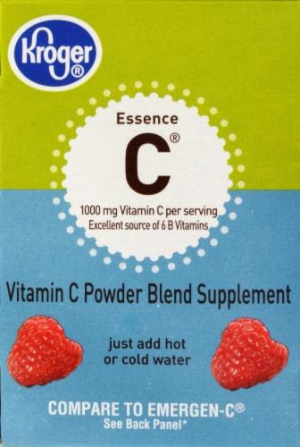 Kroger® Essence C Raspberry Vitamins Packets Perspective: back