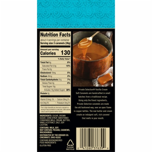 Private Selection™ Vanilla Creme Soft Caramels Perspective: back