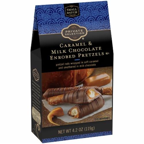 Private Selection® Caramel & Milk Chocolate Enrobed Pretzels Perspective: back