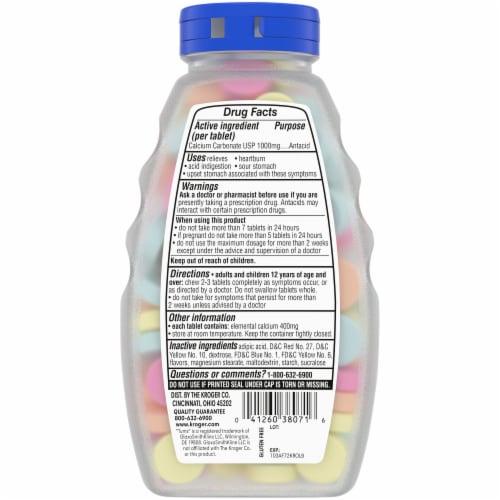 Kroger® Assorted Fruit Ultra Strength Antacid Chewable Tablets Perspective: back