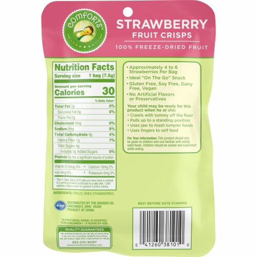 Comforts™ Strawberry Fruit Crisps Perspective: back