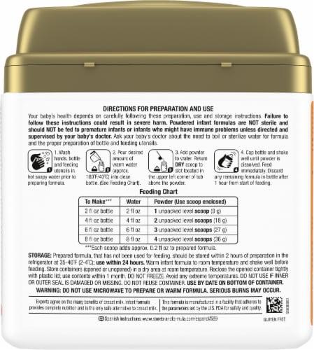 Comforts™ Sensitivity Milk-Based Infant Formula Powder with Iron Perspective: back