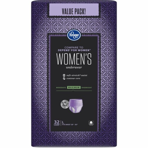 Kroger® Large Maximum Hold Woman's Underwear 32 Count Perspective: back