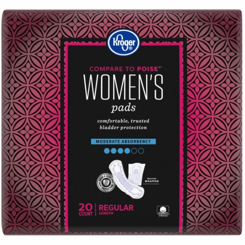 Kroger® Regular Length Moderate Absorbency Women's Incontinence Pads Perspective: back