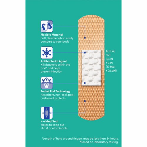 Kroger® Advanced Antibacterial Fabric Bandages Assorted Sizes Perspective: back